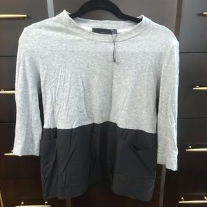 TRF BY ZARA  gray and black top